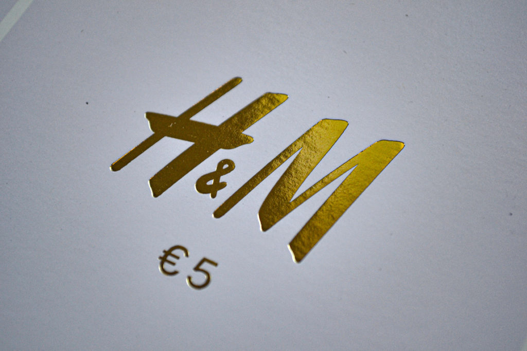 Gold foil for gift voucher