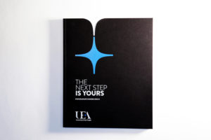 Matte foil for a university postgraduate booklet